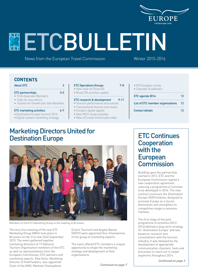 ETC'S NEWEST BULLETIN