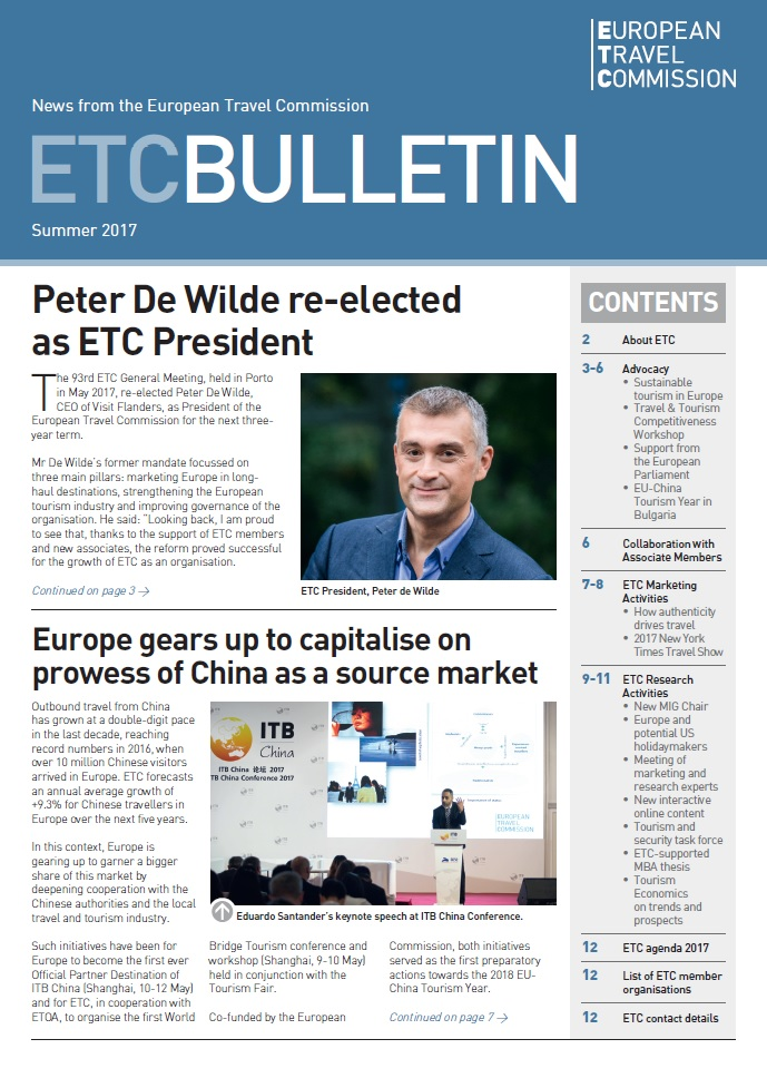 ETC's Newest Bulletin – Summer 2017