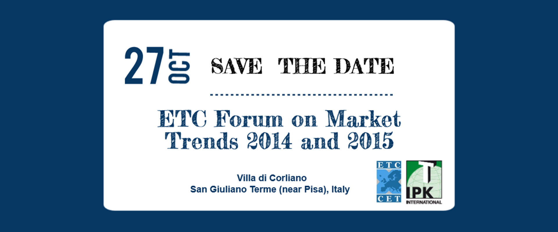 Register Now: ETC Forum On Market Trends 2014-2015