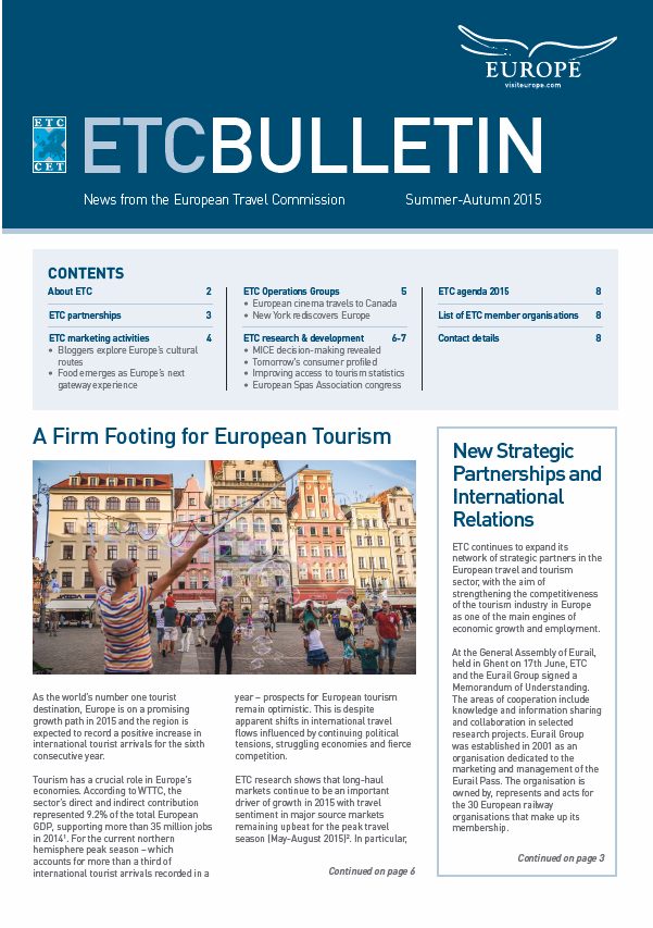 ETC's Bulletin Summer-Autumn 2015