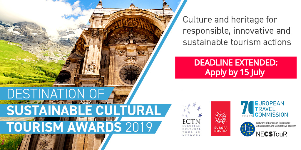 Applications now open for the Destination of Sustainable Cultural Tourism Awards 2019