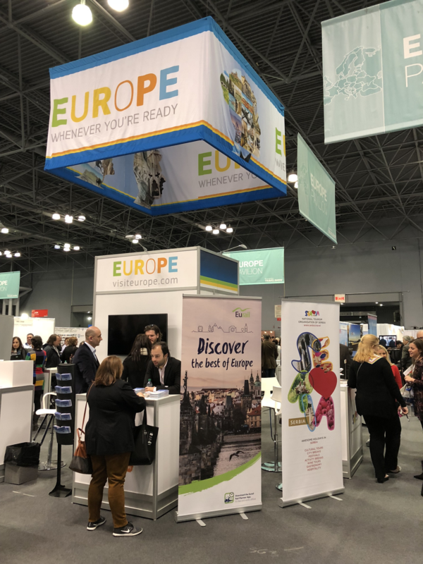 In January 2018, four ETC member destinations (Czech Republic, Slovakia, Serbia and Slovenia), together with ETC associate member Eurail, presented themselves under the European umbrella.