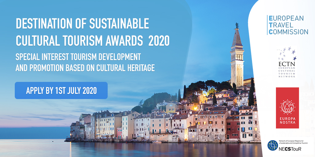 Applications now open for the Destination of Sustainable Cultural Tourism Awards 2020