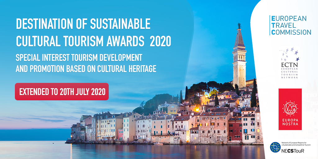 Applications extended for the Destination of Sustainable Cultural Tourism Awards 2020